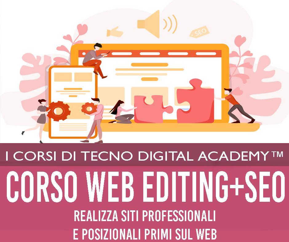 corso web editing con SEO management