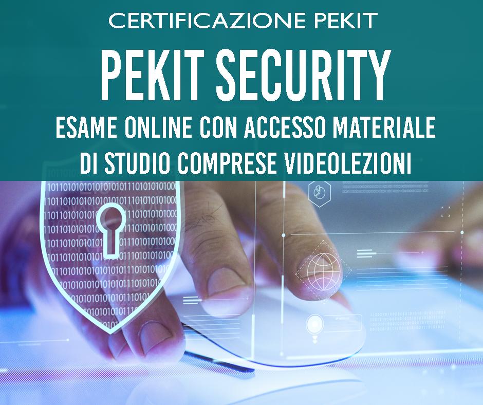 pekit security certificazione Tecno digital Academy