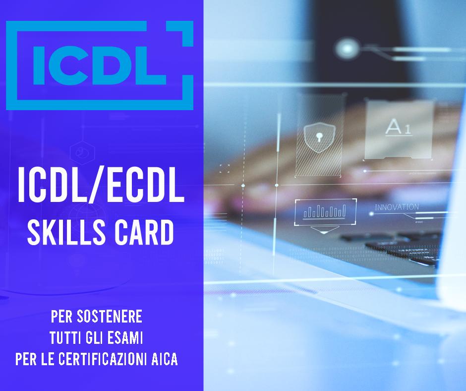 ICDL ECDL SKILLS CARD SU TECNO DIGITAL ACADEMY