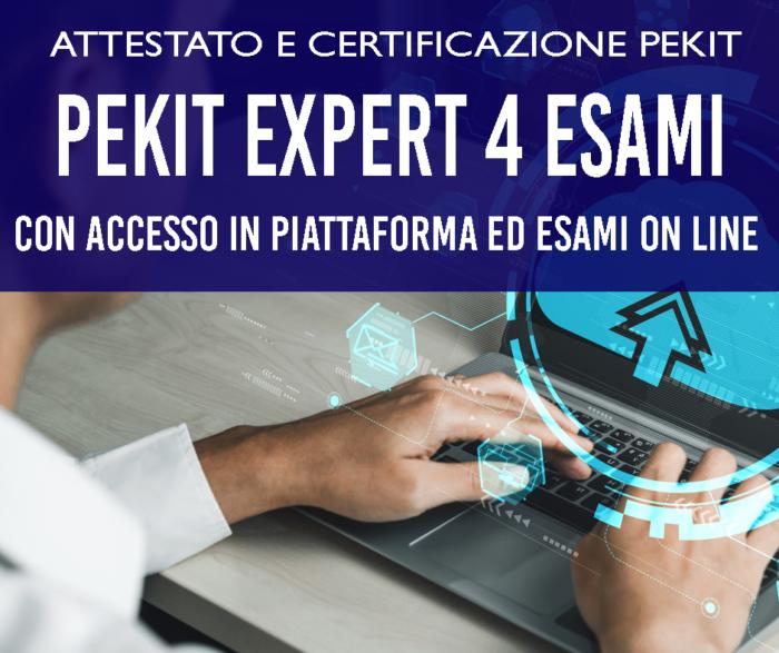 PEKIT EXPERT 4 ESAMI CON ACCESSO IN PIATTAFORMA FORMATIVA AUTONOMA