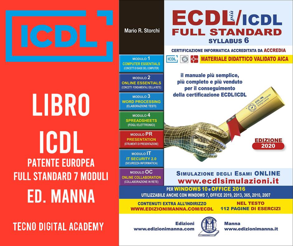 Libro ICDL ECDL Patente Europea Edizioni Manna