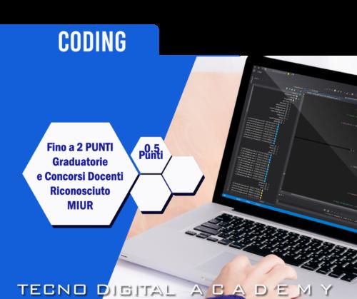 Corso e Certificazione Coding riconosciuta Miur
